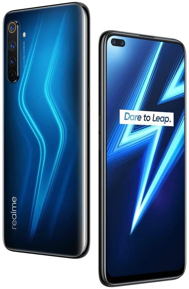 """RealMe 6 Pro 128 GB + 8 GB RMX2063 6.8"""" Dual Sim 4G LTE Octa-core Snapdragon 720G - Quad Camera - Versión Internacional - No Garantía (sólo GSM, no CDMA) (azul)"""