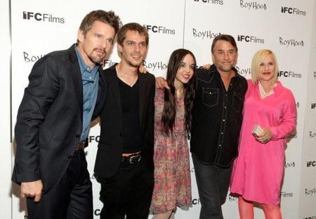 El director y los protagonistas en la premiere de Boyhood