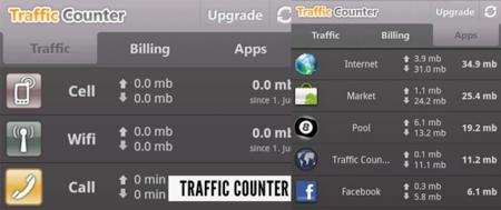 Controla el tráfico de datos en tu móvil (III): Traffic Counter Extended para Android