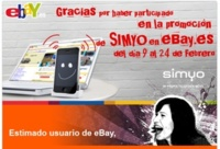 simyo ya ha enviado los códigos eBay