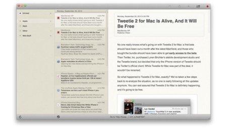 Reeder dará el salto a Mac OS X