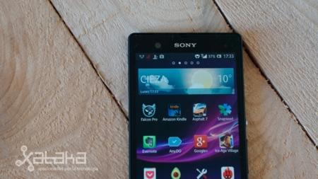 Sony Xperia Z pantalla media