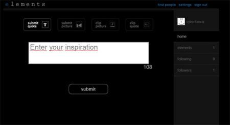 Elements: Microblogging, Tumblelog e imágenes en una misma aplicación