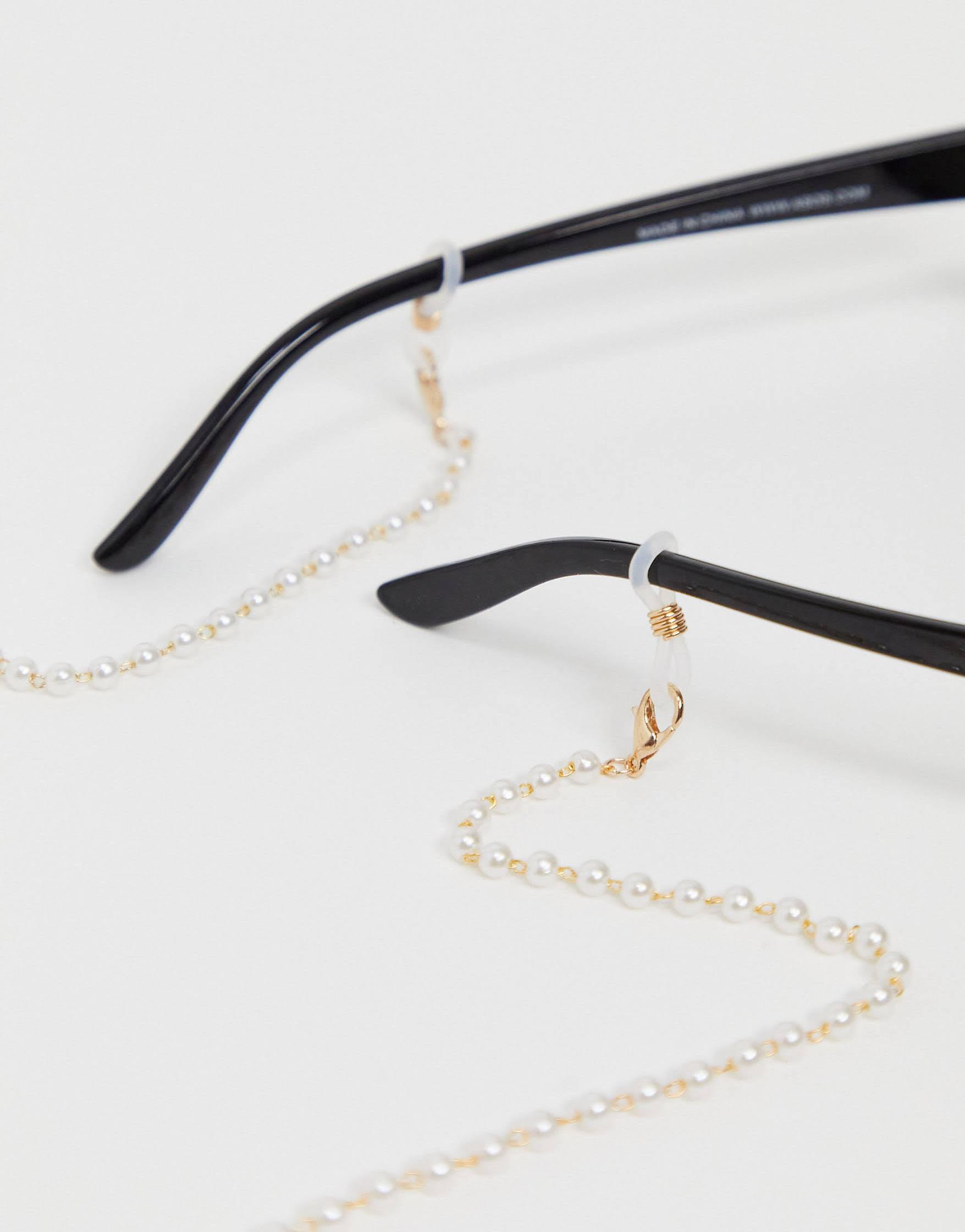 Cadena para gafas de sol de perlas de Pieces