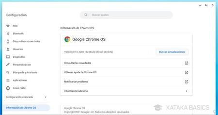 Info Chrome Os