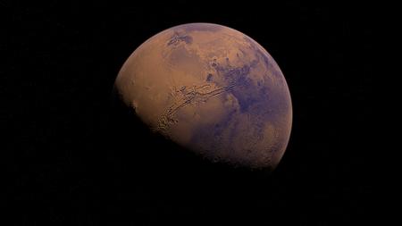 En sus orígenes, Marte estaba cubierto de capas de hielo