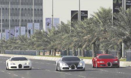Top Gear reúne tres Bugatti Veyron para que Stig juegue con ellos