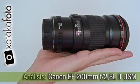 Canon EF 200mm f/2,8L II USM, análisis