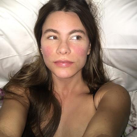 Sofía Vergara se muestra en un selfie sin maquillaje y con fiebre (y nos gusta saber que cualquiera tiene un mal día)