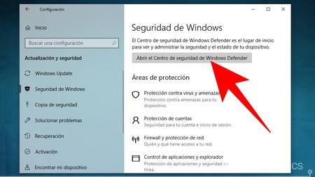 Abrir Windows Defender