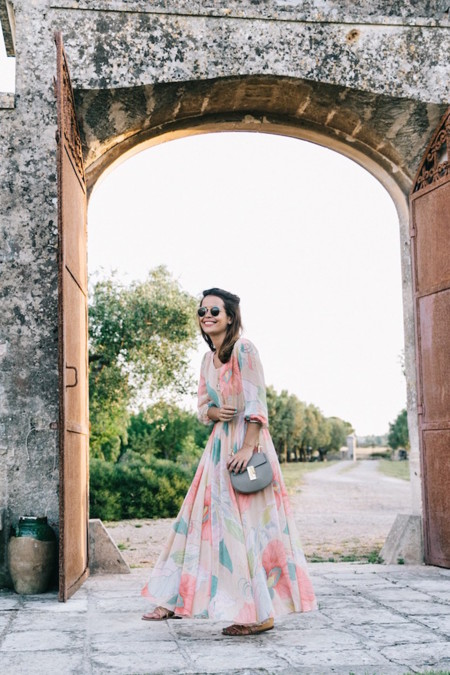 Long Dress Chicwish Floral Print Lace Up Sandals Chloe Girls Outfit Street Style Naturalis Bio Resort 1 790x1185