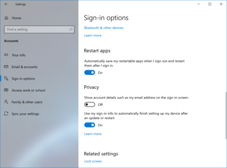 Restart Apps Windows 10