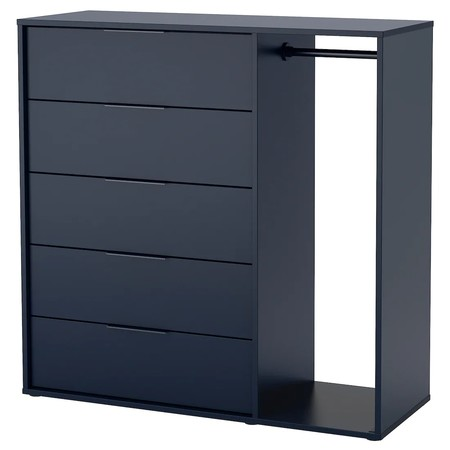 Nordmela Chest Of Drawers With Clothes Rail Black Blue 0656826 Pe711620 S5