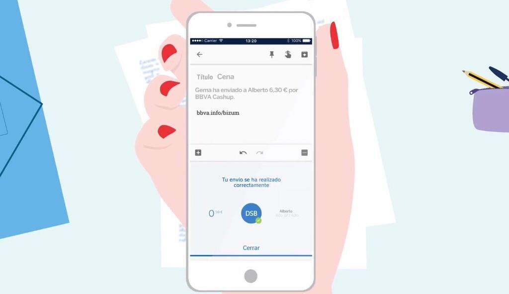 Enviar dinero por Bizum sin salirte de WhatsApp o Telegram: así es la nueva función Cashup de la app de BBVA