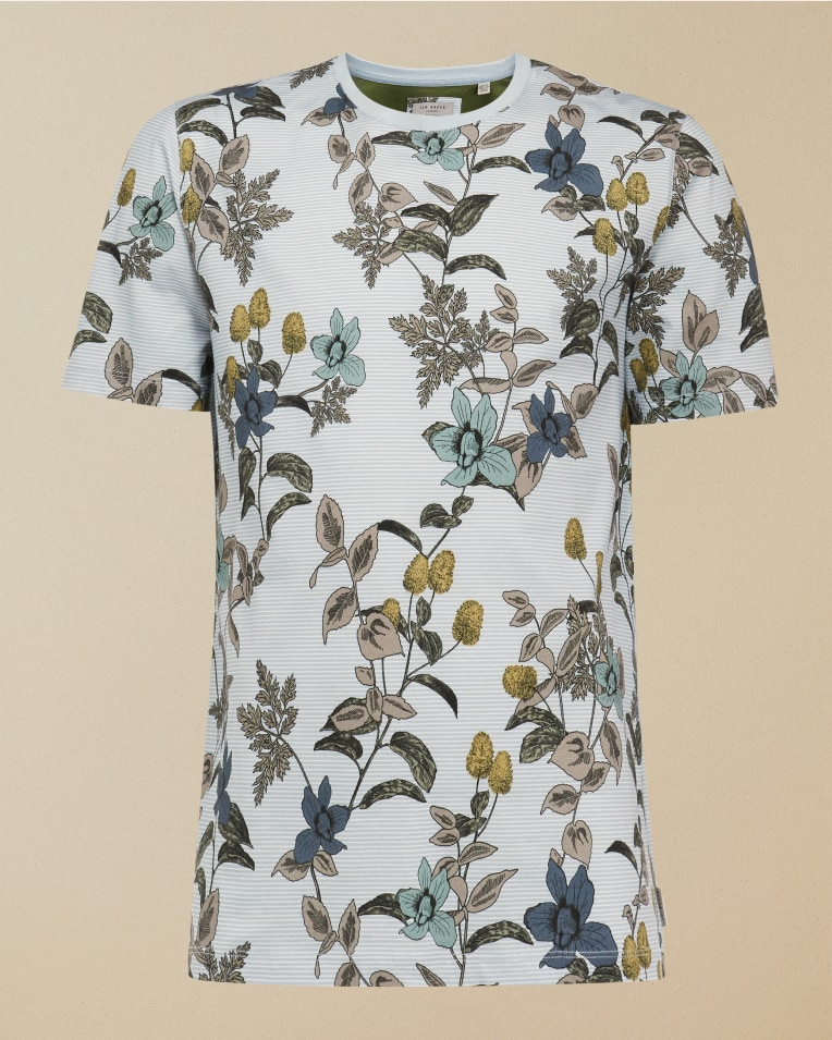 Camiseta modelo Geeza con estampado floral