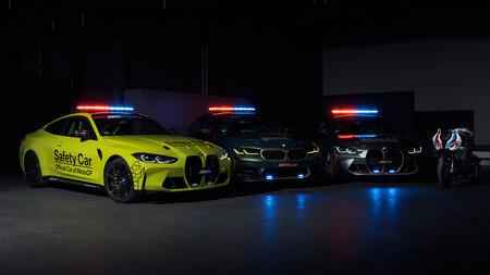 Así son los nuevos BMW M de MotoGP: un trío de coches de seguridad con el brutal M5 CS como joya de la corona