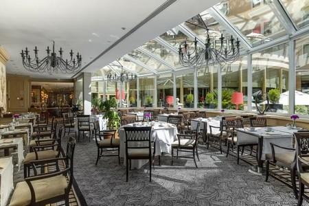 Interior restaurante El Jardín en el Hotel Intercontinental Madrid