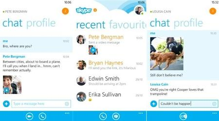Skype para Windows Phone se actualiza y ahora permite enviar fotos vía chat