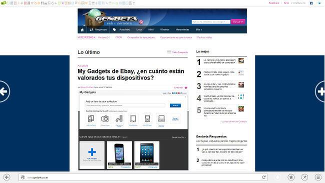 Firefox 26.0a1 con interfaz Modern UI