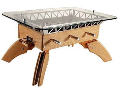 Una mesa futbolín