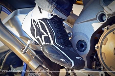 Alpinestars Faster 2/Vented microfibra/ /Negro y rojo Zapatos de moto para hombre
