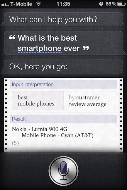 Siri Lumia 900