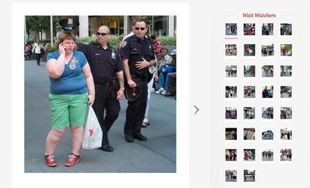 Haley Morris-Cafiero, fotografiando el comportamiento de otras personas ante su obesidad