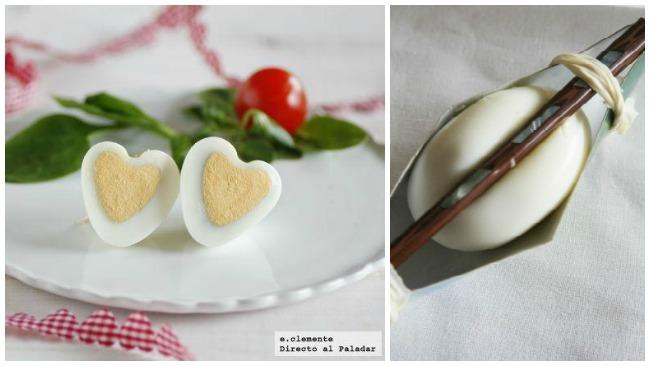 Huevos corazón para San Valentín