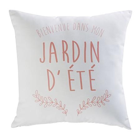 Maisons Du Monde Cojin De Jardin De Tela Con Estampado Rosa 19 99eur