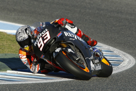 El equipo Repsol Honda aparca sus motos hasta febrero tras unos entrenamientos satisfactorios en Jerez