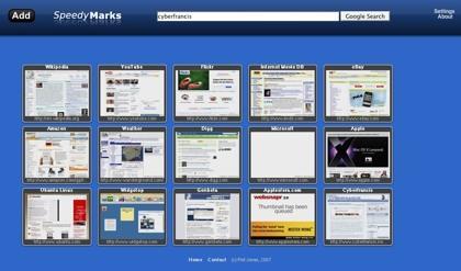 SpeedyMarks, nuestra página de inicio con las miniaturas de nuestras páginas favoritas
