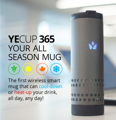 Yecup 365, la taza que mantiene tu bebida a la misma temperatura, fría o caliente todo el día