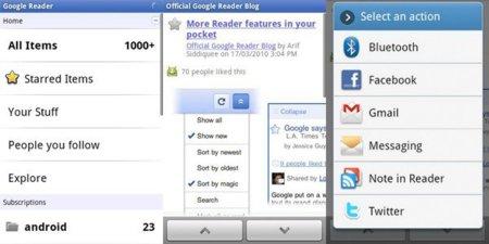 Google Reader llega a Android en forma de aplicación