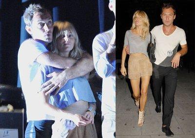 Jude Law y Sienna Miller, muy románticos en el concierto de 'The Dead Weather' en Candem