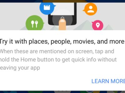 Google App se actualiza para traer Google Now on Tap a Android M y la nueva UI del launcher