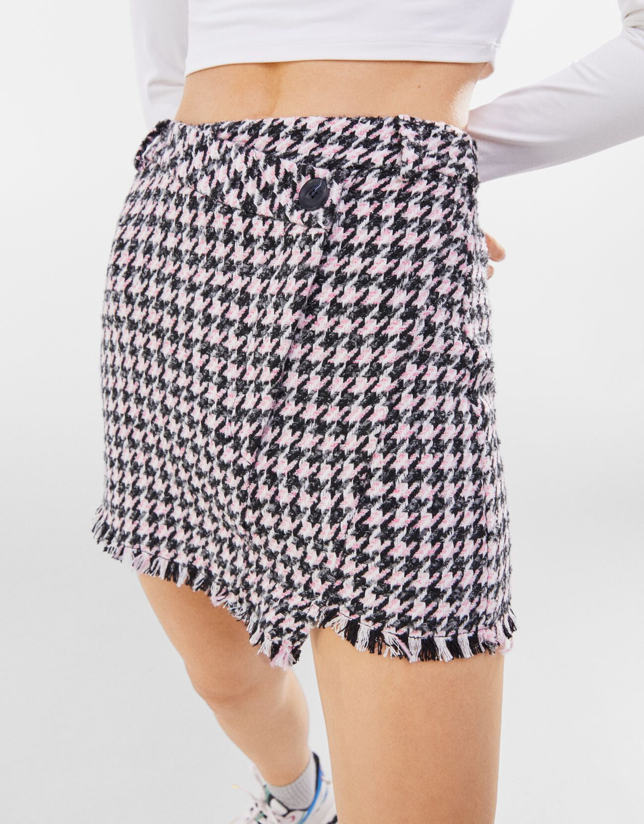 Falda mini asimétrica