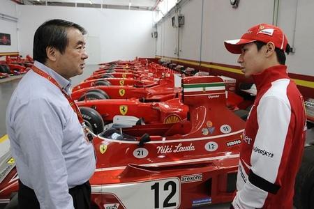 Kamui Kobayashi visita Maranello para preparar su primera carrera en el Mundial de Resistencia