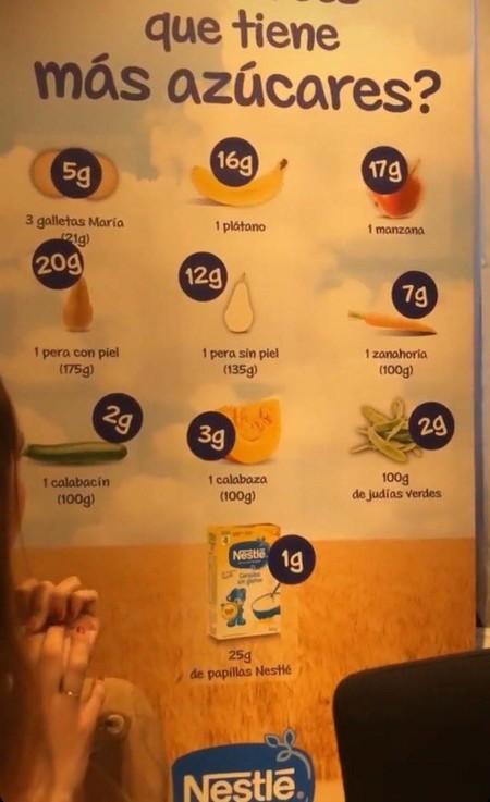 Nestlé rectifica tras publicar un cartel engañoso, en el que insinuaba que sus cereales tienen menos azúcar que frutas y verduras