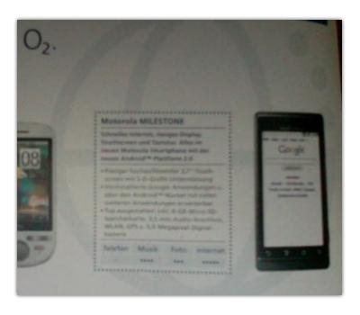 Motorola Milestone, el Droid europeo