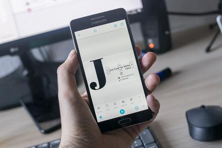 Diseña tus tarjetas de visita directamente desde el móvil con esta aplicación gratuita