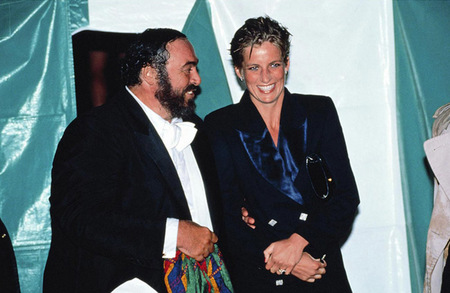 Con Pavarotti