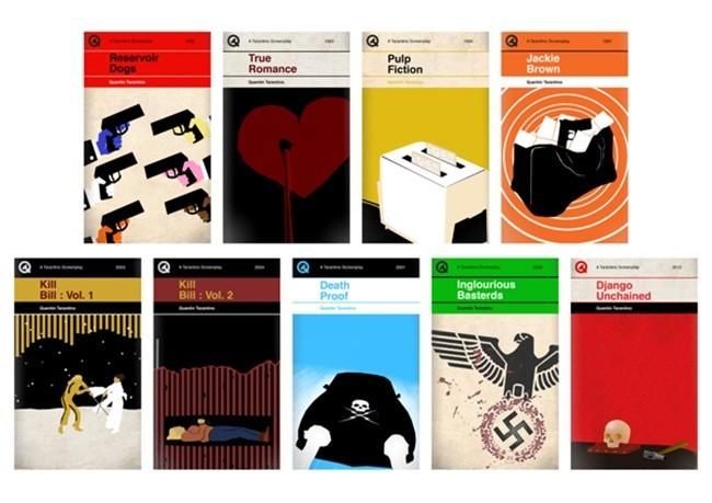 Portadas de libros basadas en las pelis de Tarantino