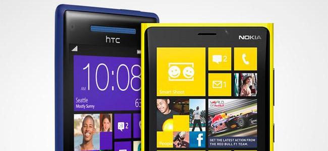 Nokia Lumia 920 y HTC 8X