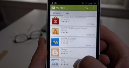 Filtrado en vídeo el diseño de Google Play 4.0