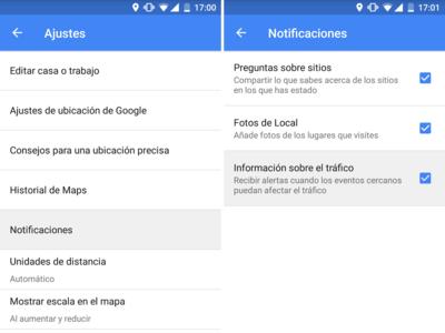 Cómo desactivar en Google Maps las notificaciones de las alertas de tráfico