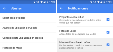 Google Maps para Android ahora te permite desactivar las notificaciones de las alertas de tráfico