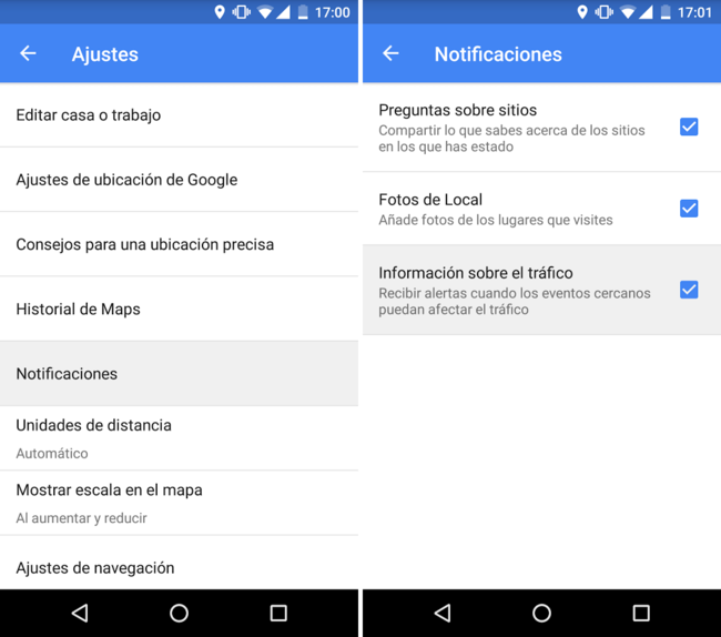 Maps Notificaciones