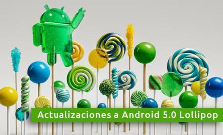 Todos los terminales que se actualizarán a Android 5.0 Lollipop