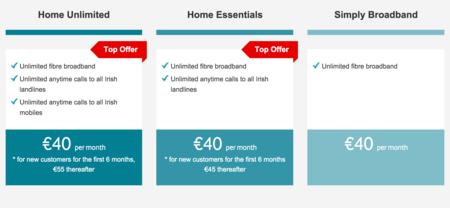 Captura de la web de Vodafone Irlanda