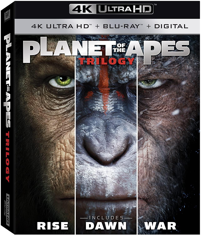 Planet of the Apes Trilogy en Blu-ray 4K